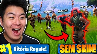 I PLAYED WITHOUT SKIN AND THOUGHT IT WAS A NOOB!! -Fortnite Battle Royale