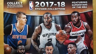 Panini NBA 2017-18 sticker collection box break and album review