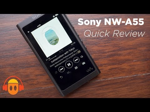 Sony NW-A55 Walkman Digital Audio Player Quick Review (4K)