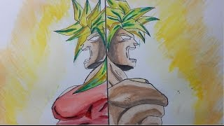 HOW TO DRAW BROLY AND KALE LSSJ--- Dragon Ball Super--- Speed Art---
