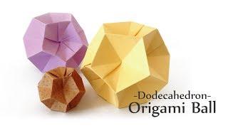 一枚折り12面体ボール Origami ball thumbnail