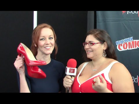 Lindy Booth Cassandra Cillian The Librarians  at New York ComicCon 2015   yael.tv