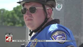 Biking along with Moorhead Police