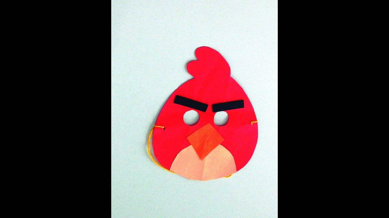 Angry Bird Maske Yapımı Youtube