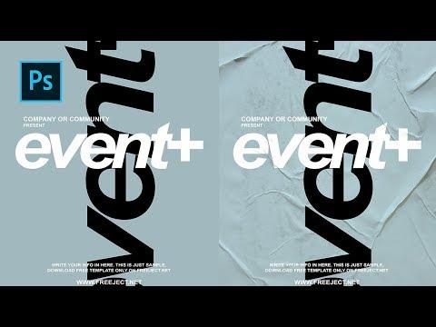 Cara Membuat Glued Poster Effect - Poster Paper Texture -  Photoshop Tutorial Indonesia