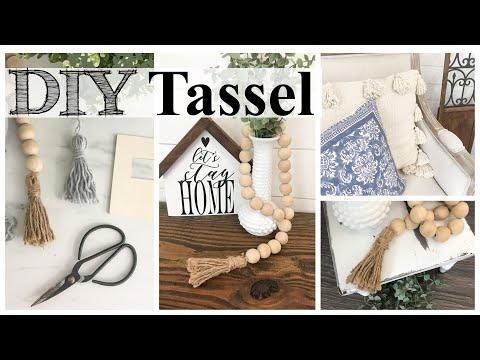 How To Make A Tassel & $1 Reusable Template!   DOLLAR TREE DIY
