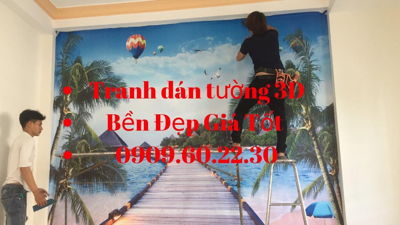 Tranh dán tường 3D phòng ngủ đẹp 0909602230