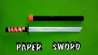 How to Make Paper Sword - Easy Way - Toy For Kids Game