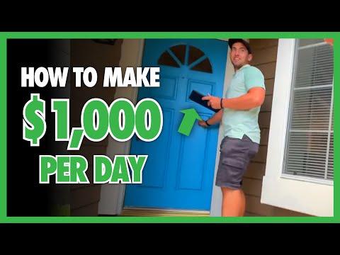 HOW TO MAKE $1,000 A DAY | Door To Door Sales | Aptive Elite