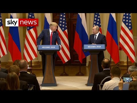 Donald Trump and Vladimir Putin hold press conference