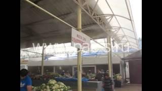 Системы туманообразования. Охлаждение туманом городского рынка(Охлаждение открытого пространства на городском рынке. Подробнее на нашем сайте www.pac-s.ru или по т. 8 988 243 87 75., 2014-10-01T12:59:07.000Z)