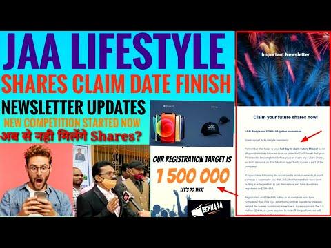 JAA LIFESTYLE | क्या अब से Company के Shares मिलेंगे या नही? | Newsletter updates | New Competition