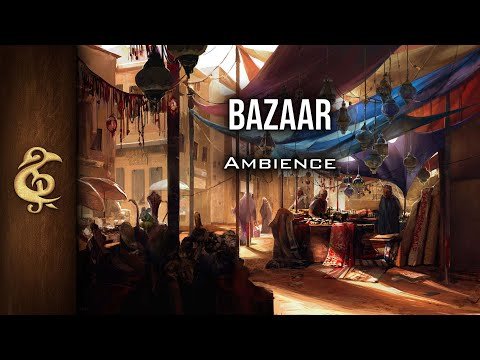 🎧 RPG / D&D Ambience - Bazaar | Oriental Market, Trade, Camels, Spices, Music