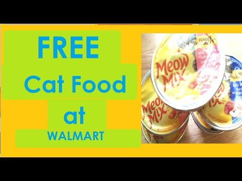 FREE Cat Food at WALMART!- August 2018