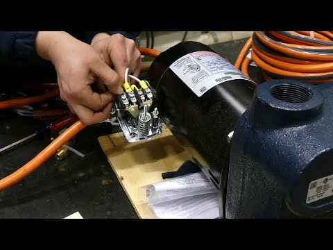 installing a pressure switch and power cord on a centrifugal pump