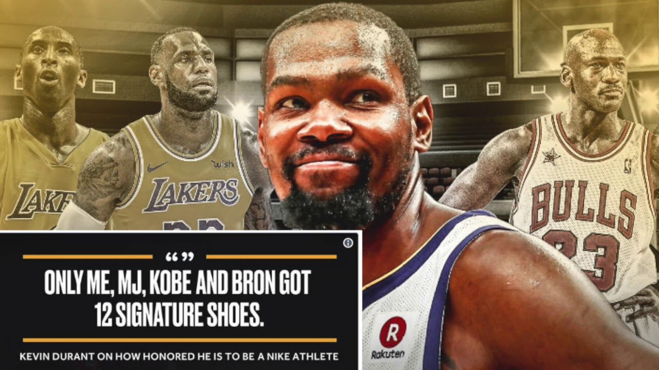 buy popular dac64 8a61c Kevin Durant Joins Michael Jordan, Kobe Bryant   Lebron James In SNEAKER  HISTORY!