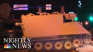 Police Chase Armored Vehicle Stolen From Virginia Military Base | NBC Nightly News