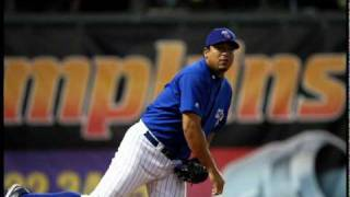 Carlos Zambrano pitches for Iowa Cubs