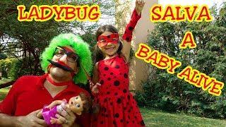 BABY ALIVE É SALVA PELA MIRACULOUS  LADYBUG  - ANNY E EU
