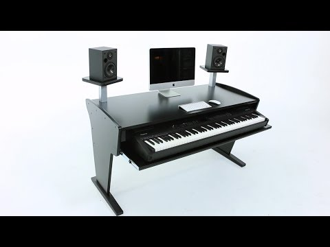 Az Studio Workstations Spike 88 Keys Music Studio Desk 2017 Black