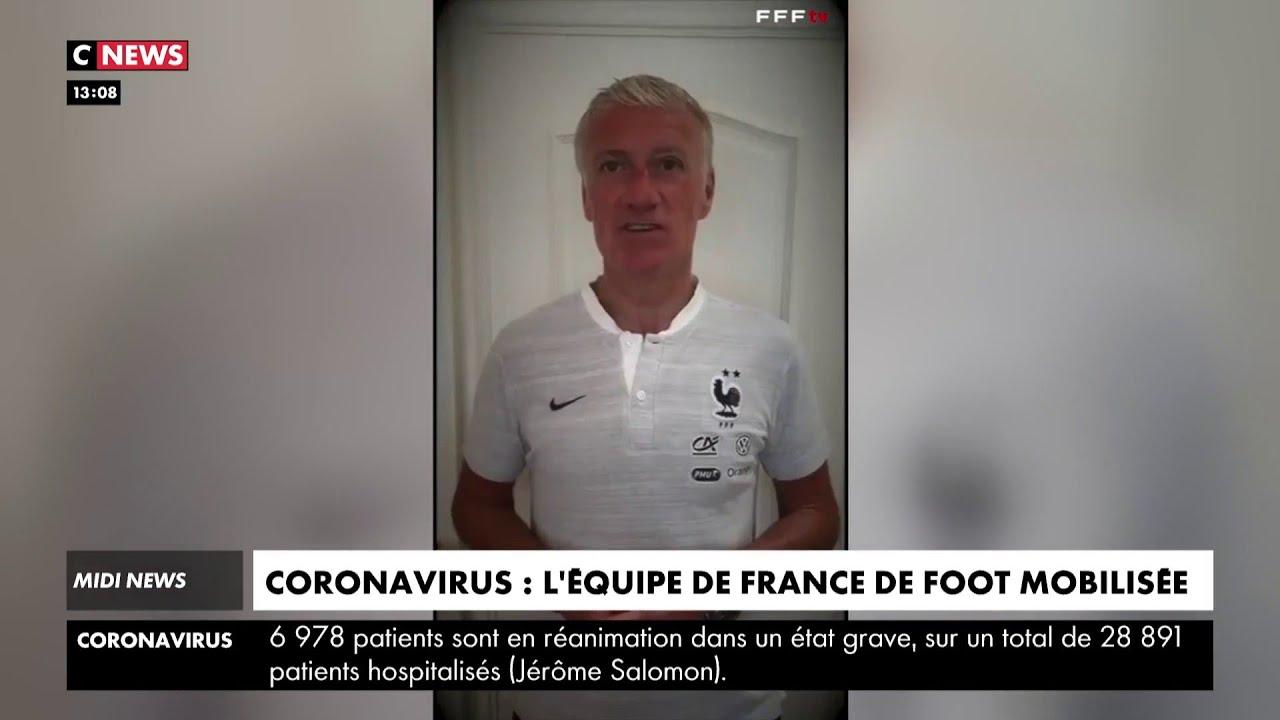 Coronavirus: l'équipe de France apporte son soutien au personnel soignant