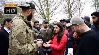 P1 - History isn't Relevant!? Muhammad Hijab vs EX-IDF Solider girl l Speakers Corner l Hyde Park