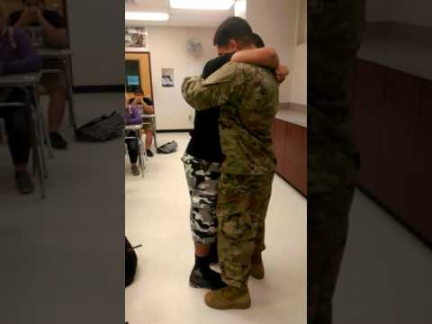 2016 (Army) Soldier surprising his little brother at school for the holidays