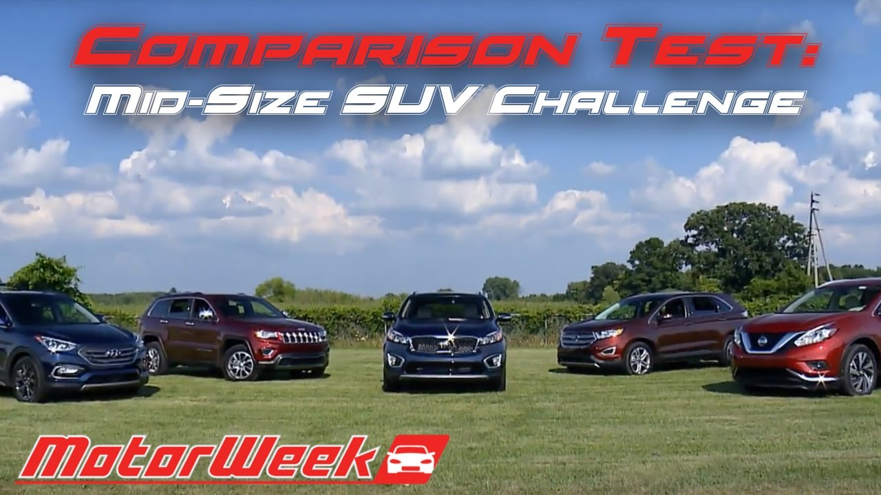 Comparison Test Mid Size Suv Challenge With Cars Com Youtube