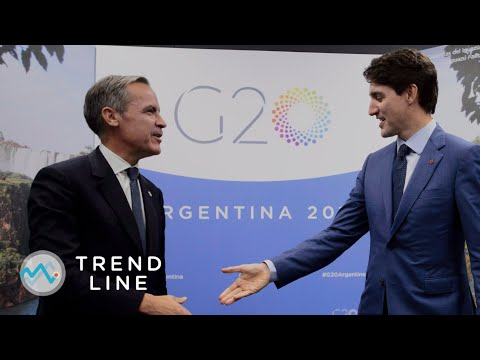 Could Mark Carney give a boost to Justin Trudeau's chances in the next election?   TREND LINE