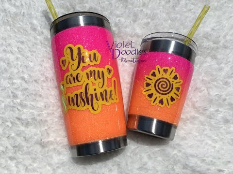 Video Follow-Up: Perfect Glitter Ombre- Stainless Tumblers