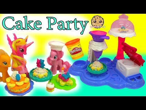 Thumbnail: My Little Pony Pinkie Pie Makes Treats for MLP with Cake Party Playdoh Maker Playset