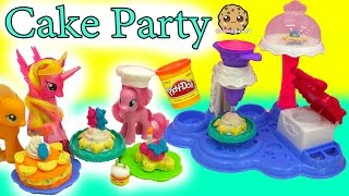 My Little Pony Pinkie Pie Makes Treats for MLP with Cake Party Playdoh Maker Playset thumbnail