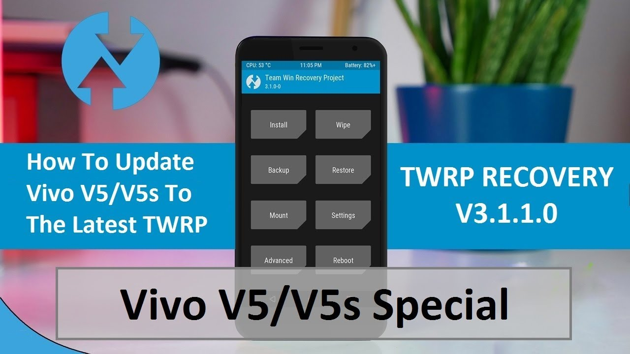 How to install latest TWRP Recovery 3 1 1 build for Vivo V5/V5s | Sunmughan  Swamy