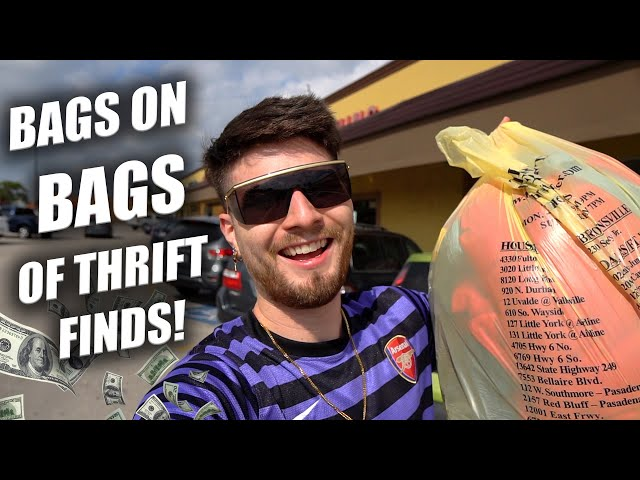 BAGS ON BAGS OF THRIFT FINDS!!! Trip to the Thrift #297