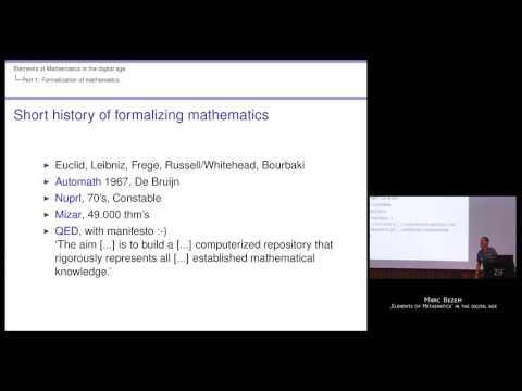 """Elements of Mathematics"" in the Digital Age by Marc Bezem (Universitetet i Bergen, Norway)"