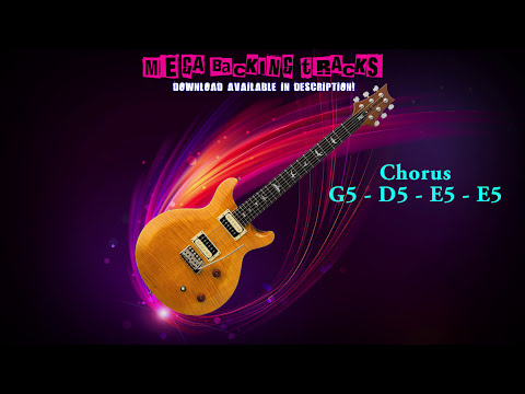 Modern RockMetal Guitar Backing Track Em  116 bpm