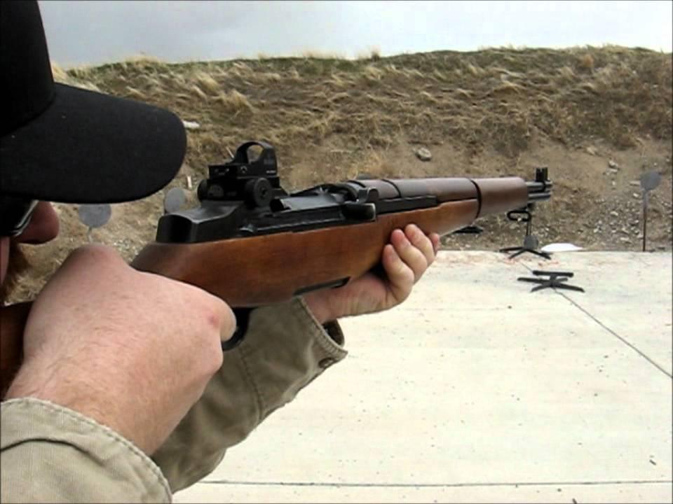 hopco usa M1 Garand M14 M1a micro red dot mount quick ... M14 Ebr Rifle
