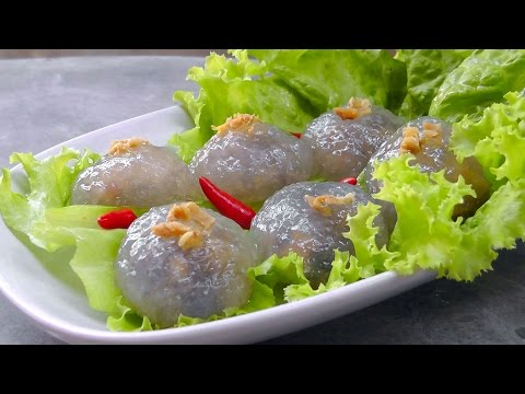 Thai stuffed Tapioca Pearl Balls – Vegan Vegetarian Recipe
