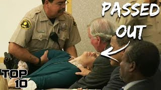 Top 10 Convicts Who Fainted After Given Their Sentencing
