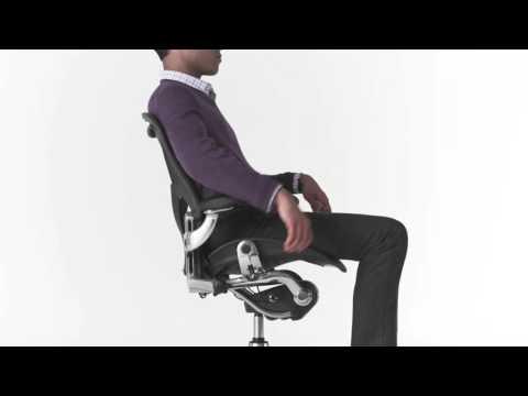 Poltrona Da Ufficio Aeron.Aeron Di Herman Miller Corretta Regolazione Youtube
