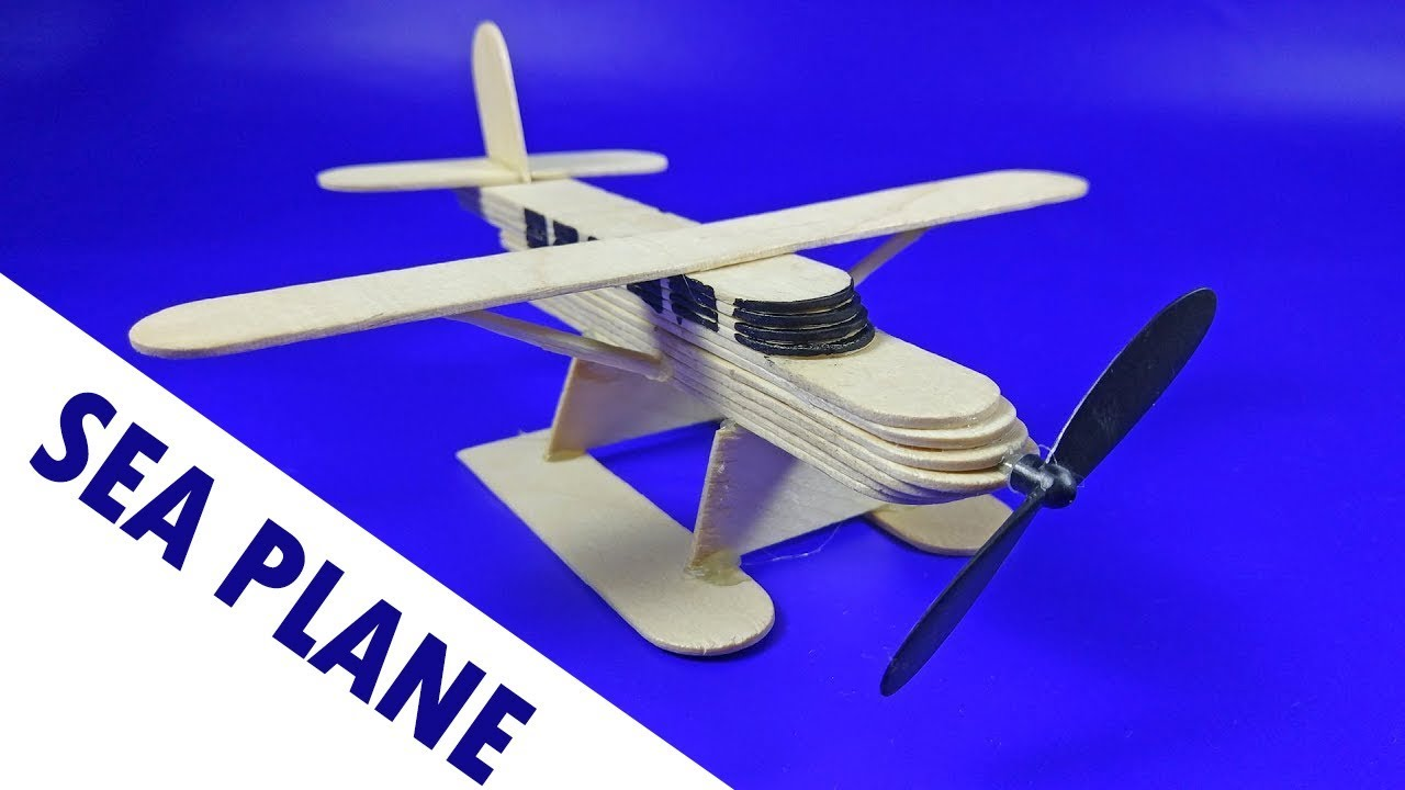 Download SEA PLANE from Popsicle Sticks | How to make a AIR PLANE