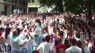 Nafar eusko gudariak abestia Iruñea 2014-7-6