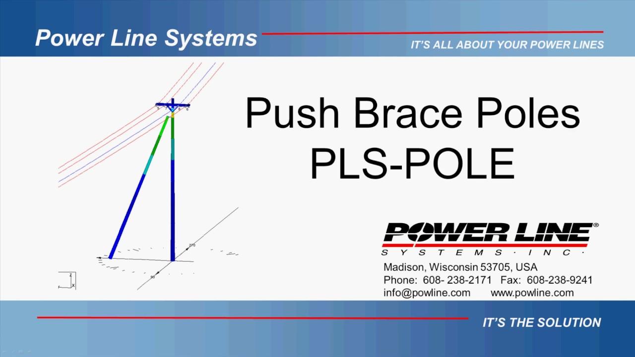 push brace modeling in pls pole [ 1280 x 720 Pixel ]