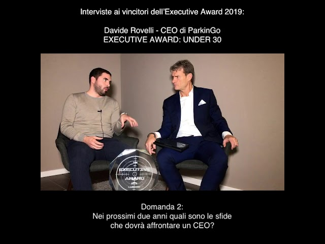 Davide Rovelli (CEO di ParkinGo) - EXECUTIVE AWARD: UNDER 30