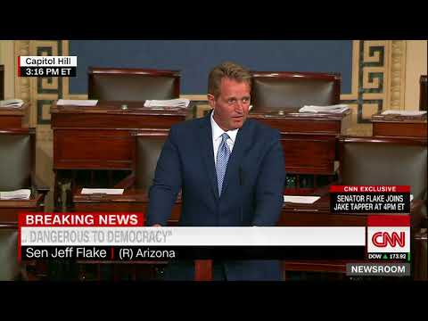 Sen. Jeff Flake announces retirement with fiery speech