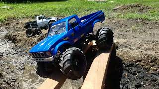Small scale crawler course in my backyard with 2 wpls