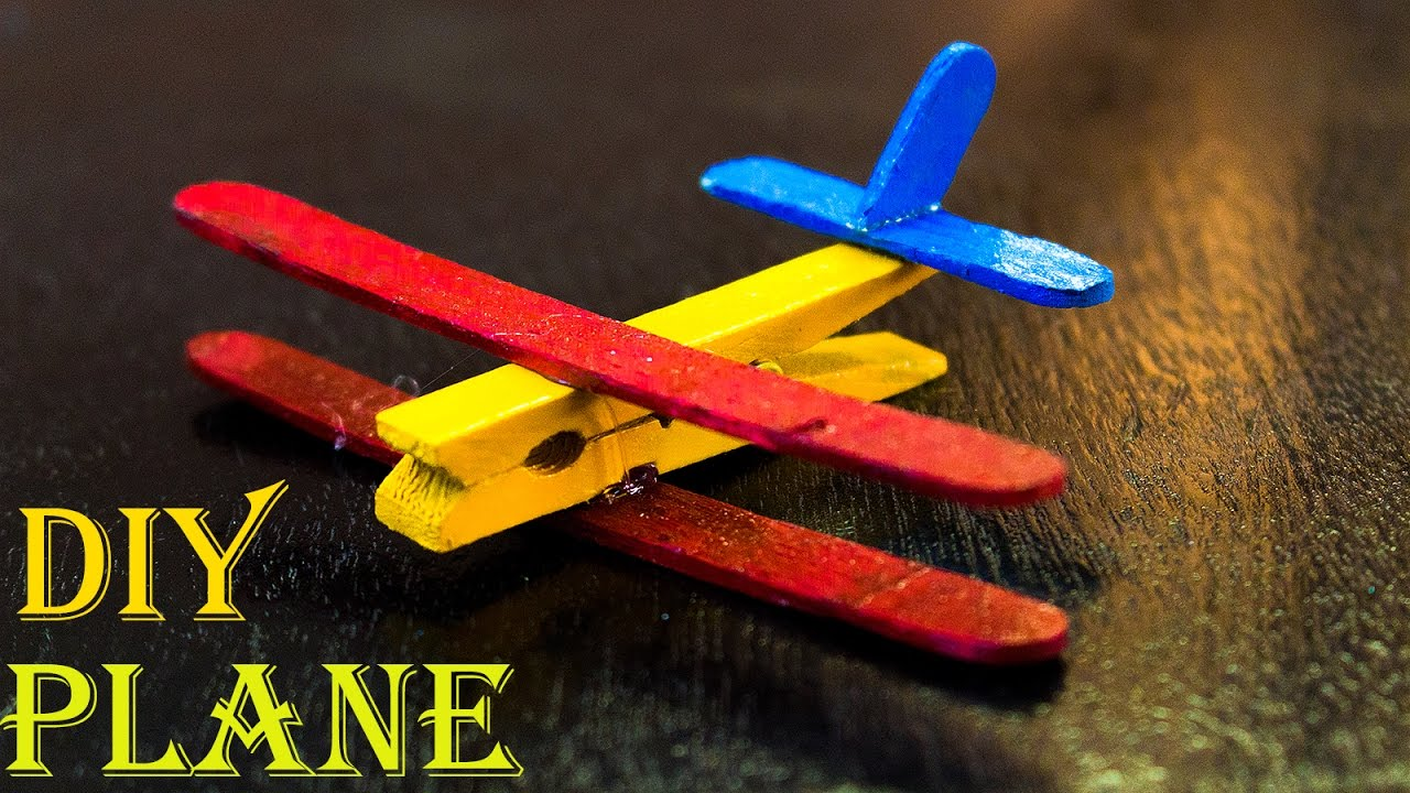 How To Make A Popsicle Stick Airplane Popcycle Stick Crafts Airplane Crafts Christmas Diy Kids