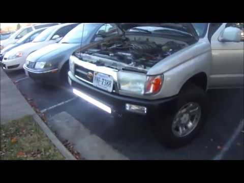 Auxbeam 32 led light bar on the 4runner youtube auxbeam 32 led light bar on the 4runner mozeypictures Image collections