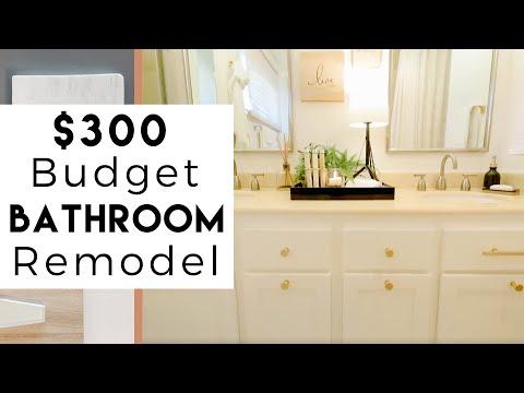 $300 Budget, Bathroom Remodel