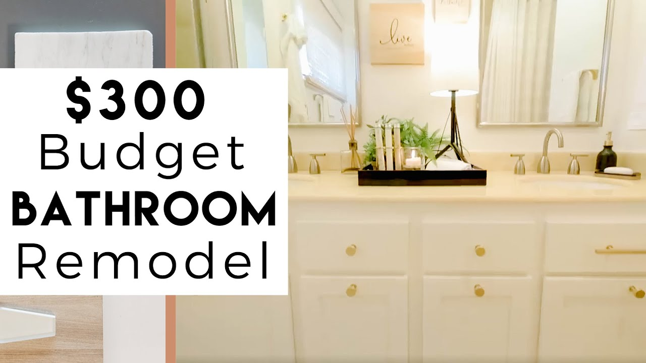 300 Budget Bathroom Remodel Youtube